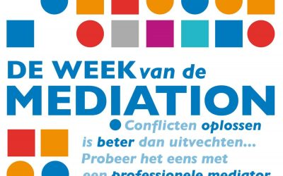 Week van de Mediation 15-19 oktober 2018.